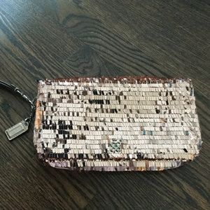 Coach Rose Gold Sequin Clutch Style #: 44460